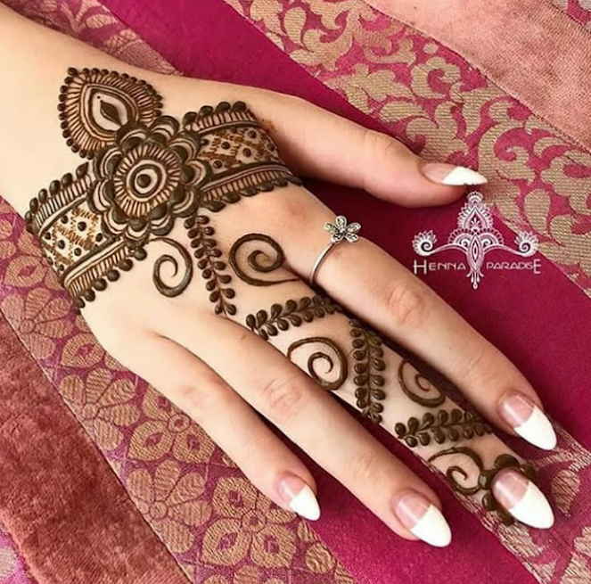 Latest Eid Mehndi Designs for hands 2018