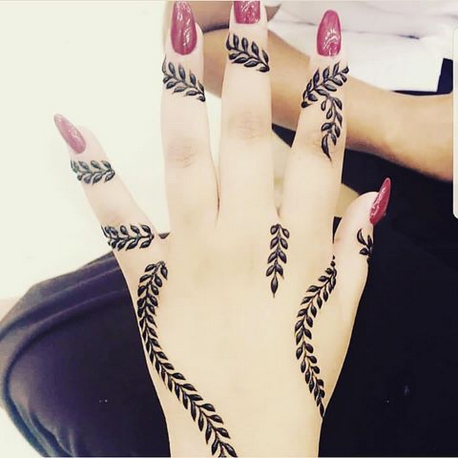 very simple eid mehndi design ideas