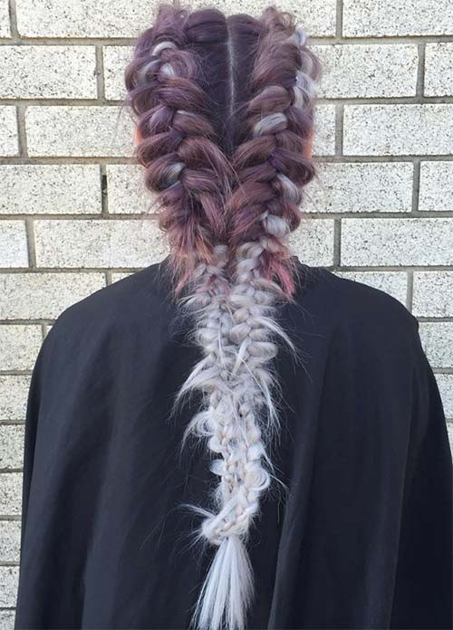 Mix of Braids and Waves Asian Hairstyles for Girls