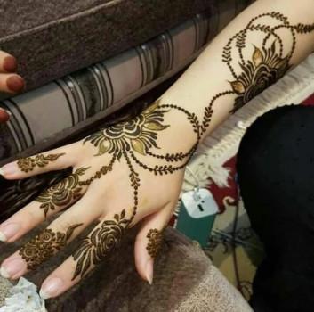 Backhand festival mehndi design for girls