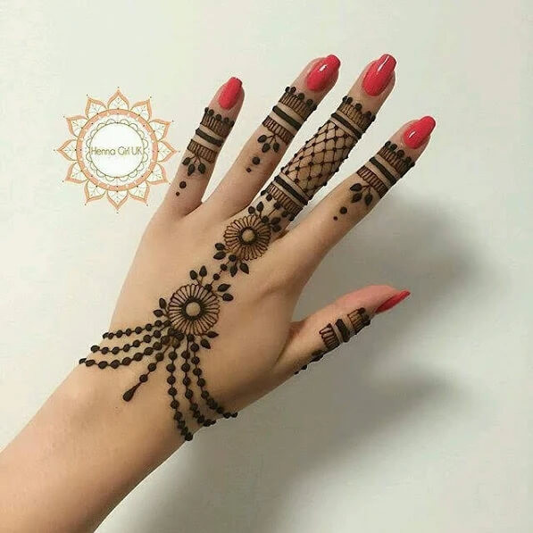 backhand simple mehndi designs