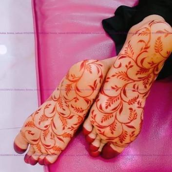 foot unique mehndi designs