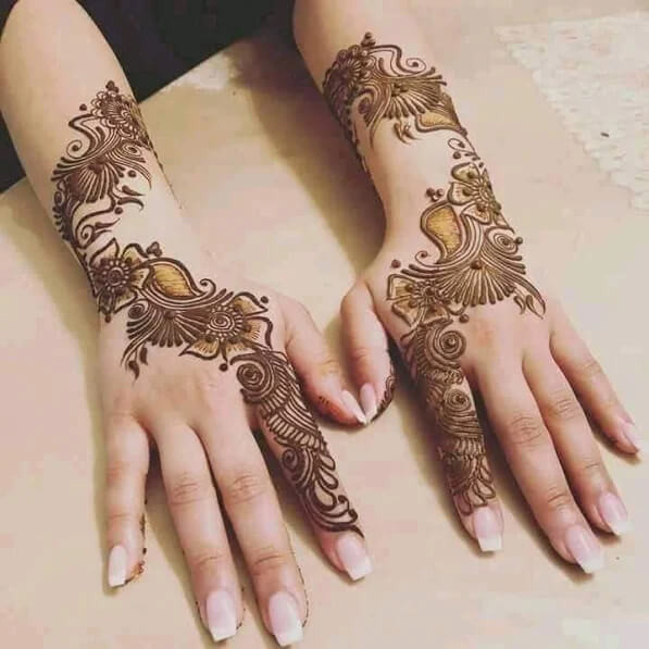 backhand and arm mehndi designs