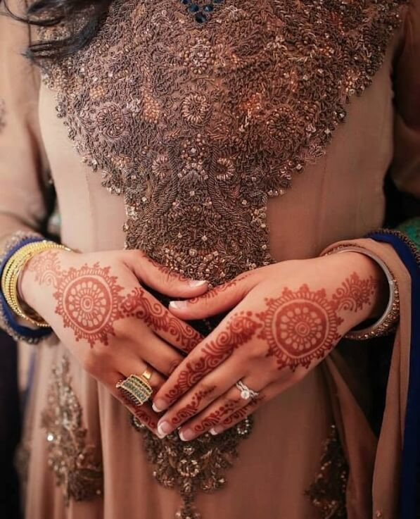 bridal backhand henna designs