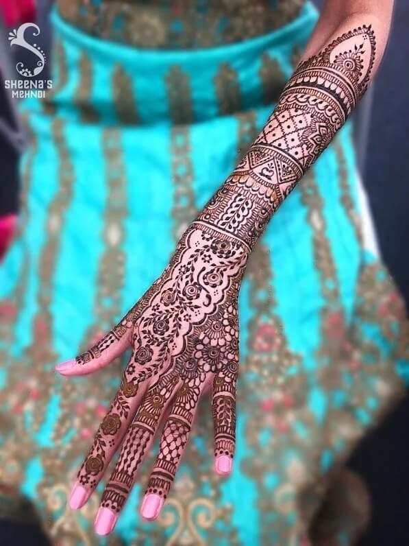 backarm mehndi designs