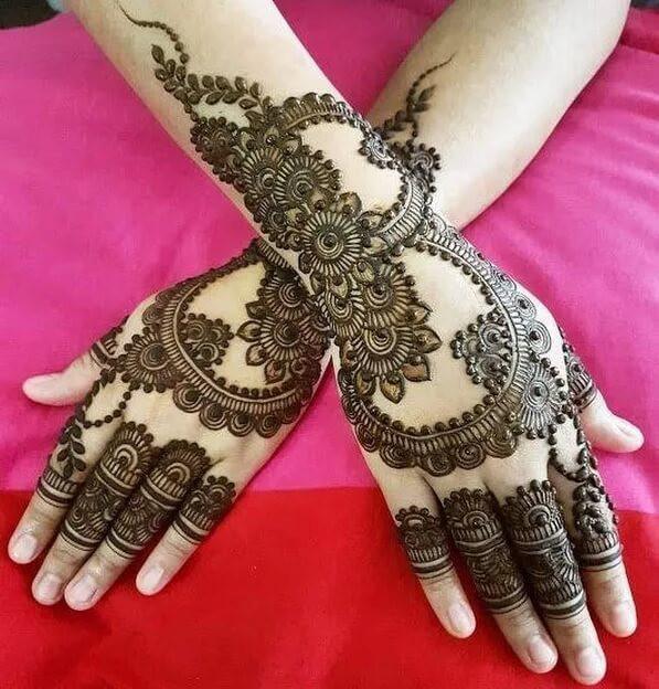 unique full arm and hands mehndi designs