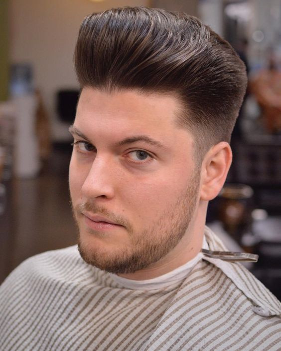 Faux Hawk Smart Men Hairstyles for Round Faces