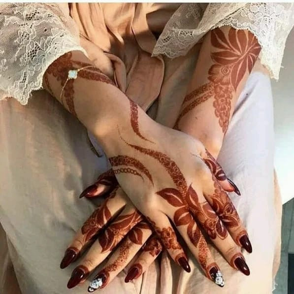 awesome hands mehndi design