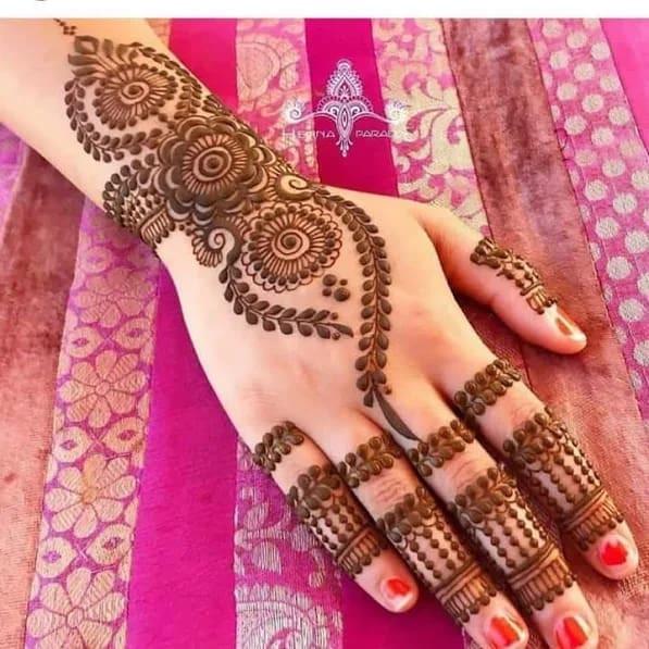 easy and latest mehndi designs ideas