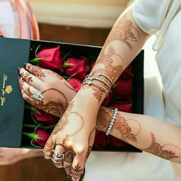 awesome hands and arms mehndi design ideas