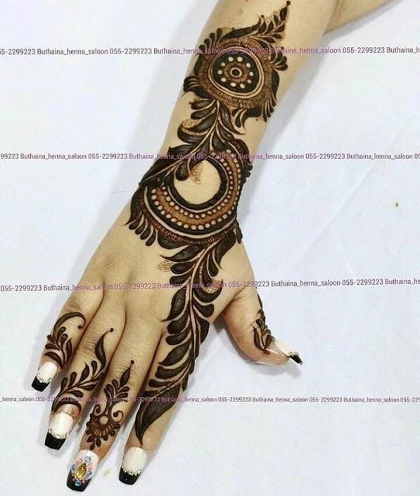 elegent mehndi designs ideas