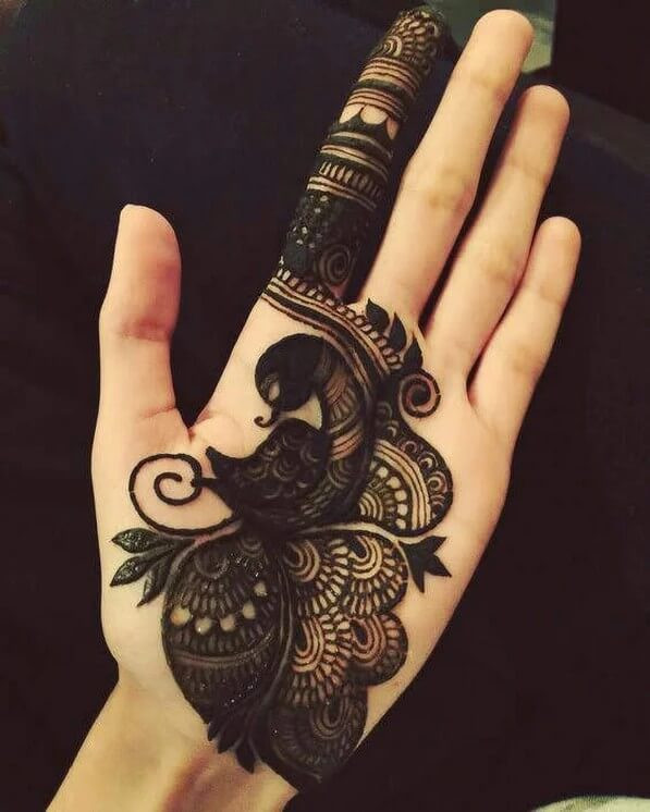 Front Hand Beautiful Mehndi Designs