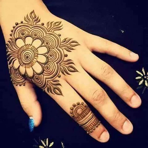 Latest Adorable Mehndi designs for Girls