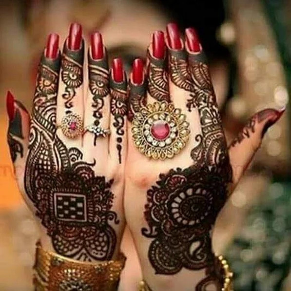 Shimmer Henna Designs for bridal
