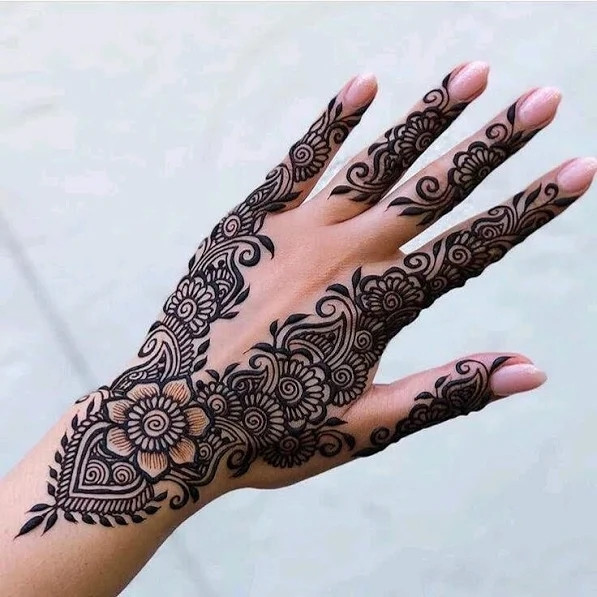 Leaves Henna designs