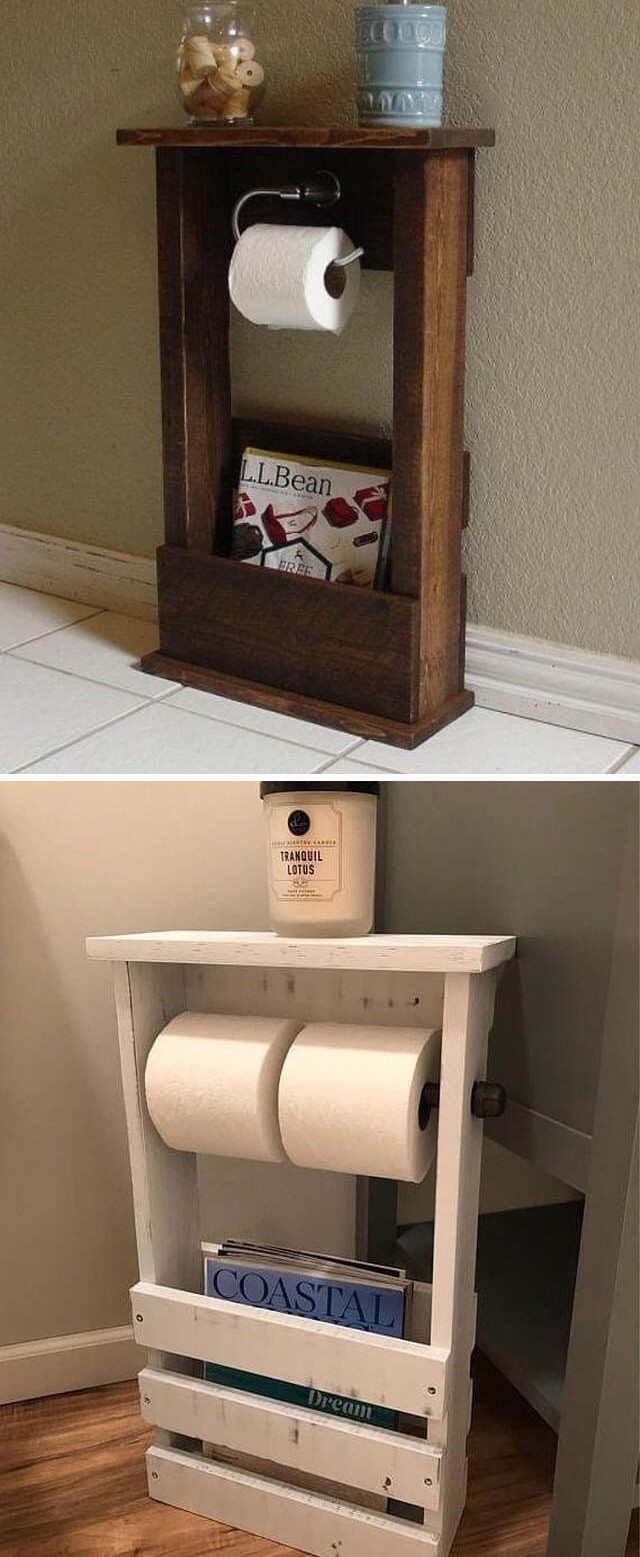 Pallet toilet paper crafts