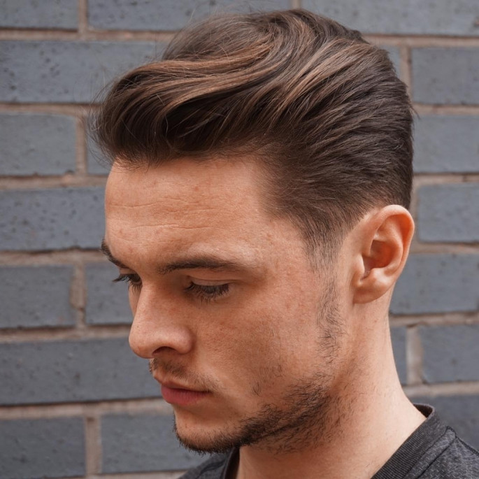 Short Sides with Slicked Back Asian Hairstyles for Men