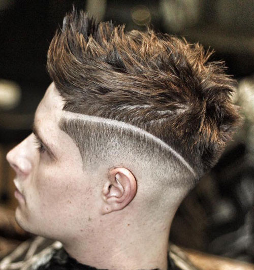 Hard Part & Low Skin Fade Short Hairstyles for Men