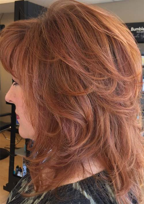 FRINGED BLOCK COLOR FOR LONG HAIR ideas over 50
