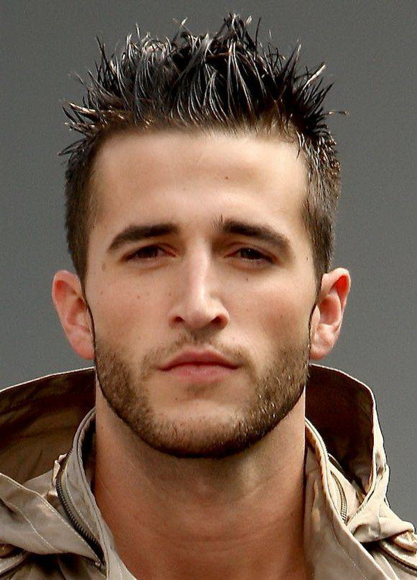 Spiky Smart Men Hairstyles for Round Faces