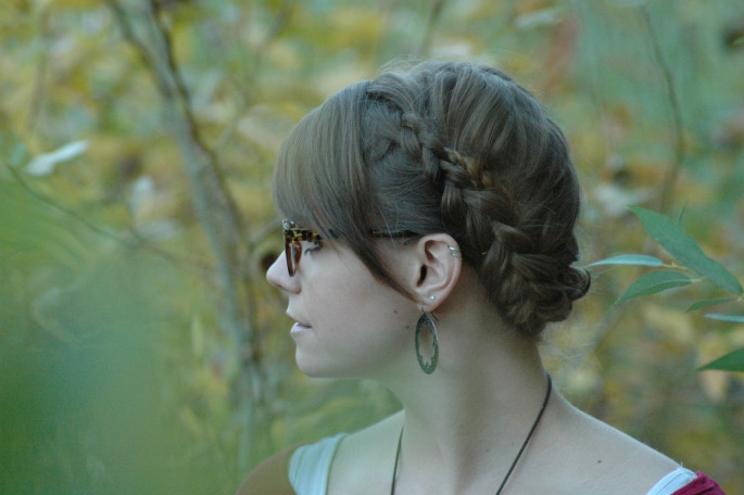 Halo Braid With Bangs
