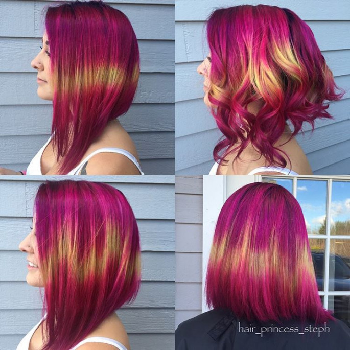 Neon Bobs Unique & Cool Hairstyles 2019