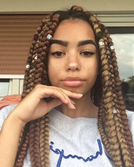 Big Dark Brown Hair Crochet Braid Hairstyles for Women