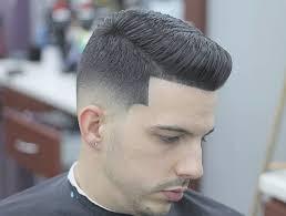 Comb Over + Taper Fade Medium Length Men's Hairstyles