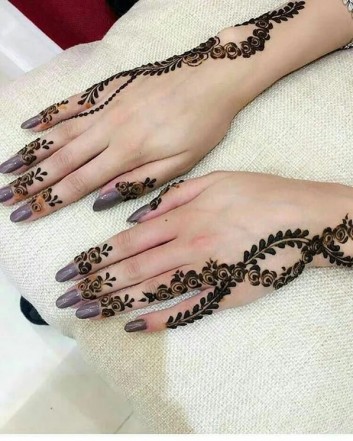 backhand side mehndi design ideas