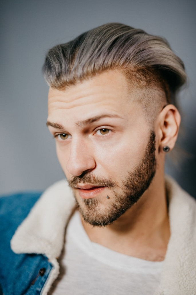 Undercut+ Messy Comb Over Fade Medium Length Men's Hairstyles