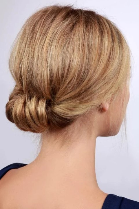 Ear Buns Hairstyles For Medium hair