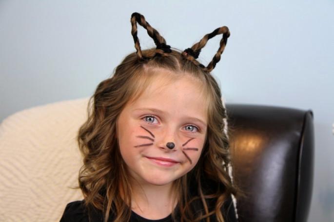 Bunny Ears Hairstyles For Short Hair-Medium Length Hair