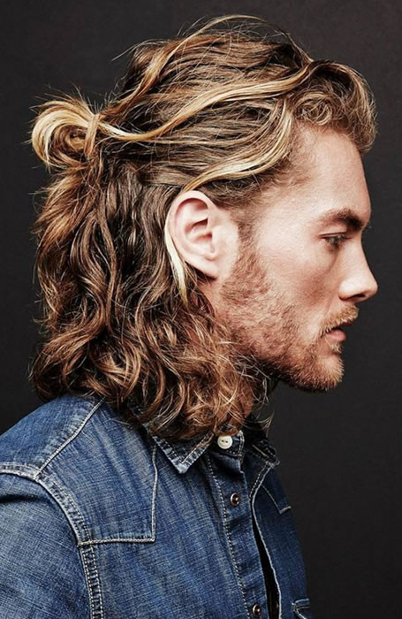 Bun Long Hairstyles For Men