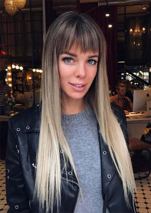 25+ Most Beautiful Hairstyles with Bangs in 2018 - Sensod