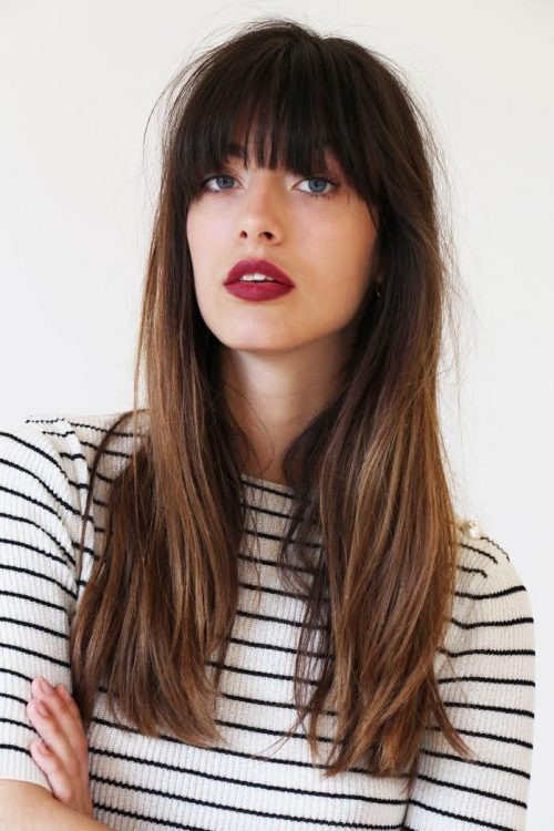 Straight Hairstyles with Bangs in 2018