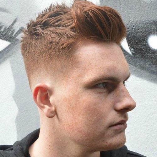 Fade with Messy Hair & Brush UP Short Hairstyles for MenFade with Messy Hair & Brush UP Short Hairstyles for Men