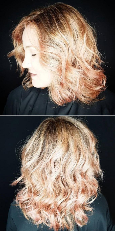 Mix Multi-Layered Hairstyles for Medium Hair