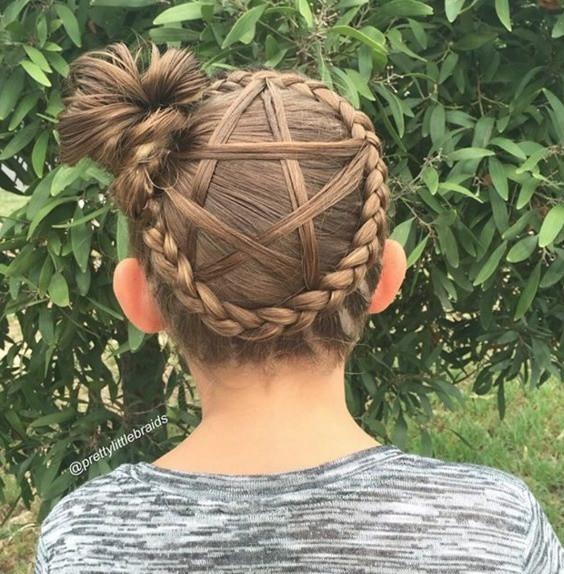 Braid Basket Hairstyles for Little Girls