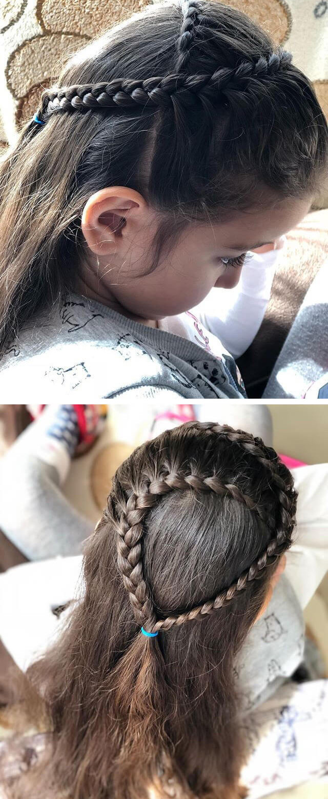 Little girl Simple hairstyle ideas