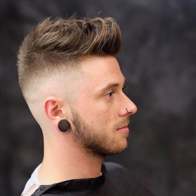 Mid Fade Medium Length Hairstyles for Men