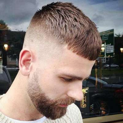 Cropped Fringes Asian Hairstyles for Men