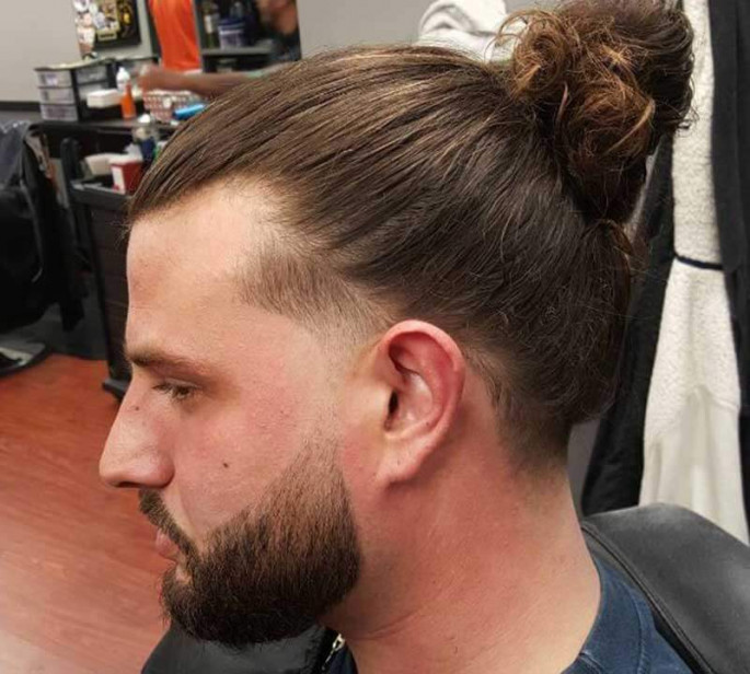 Twist-In-Bun Long Hairstyles for Men to Look More Handsome