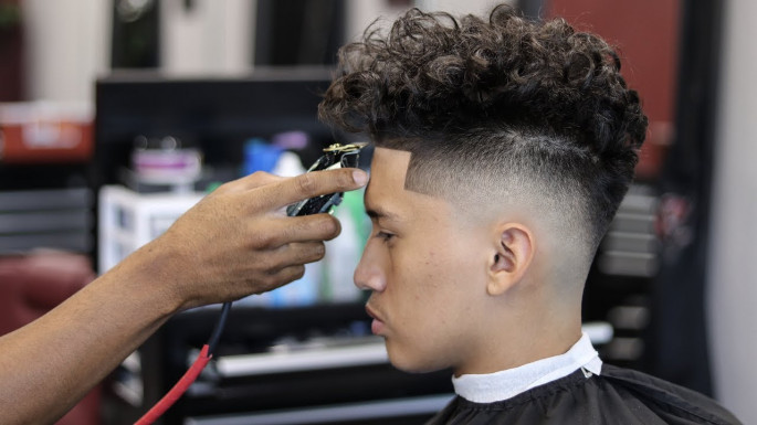 Drop Fade With Curly Hair Short Hairstyles for Men