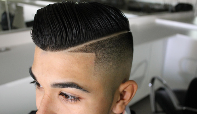 Comb-over Fade Medium Length Men's Hairstyles