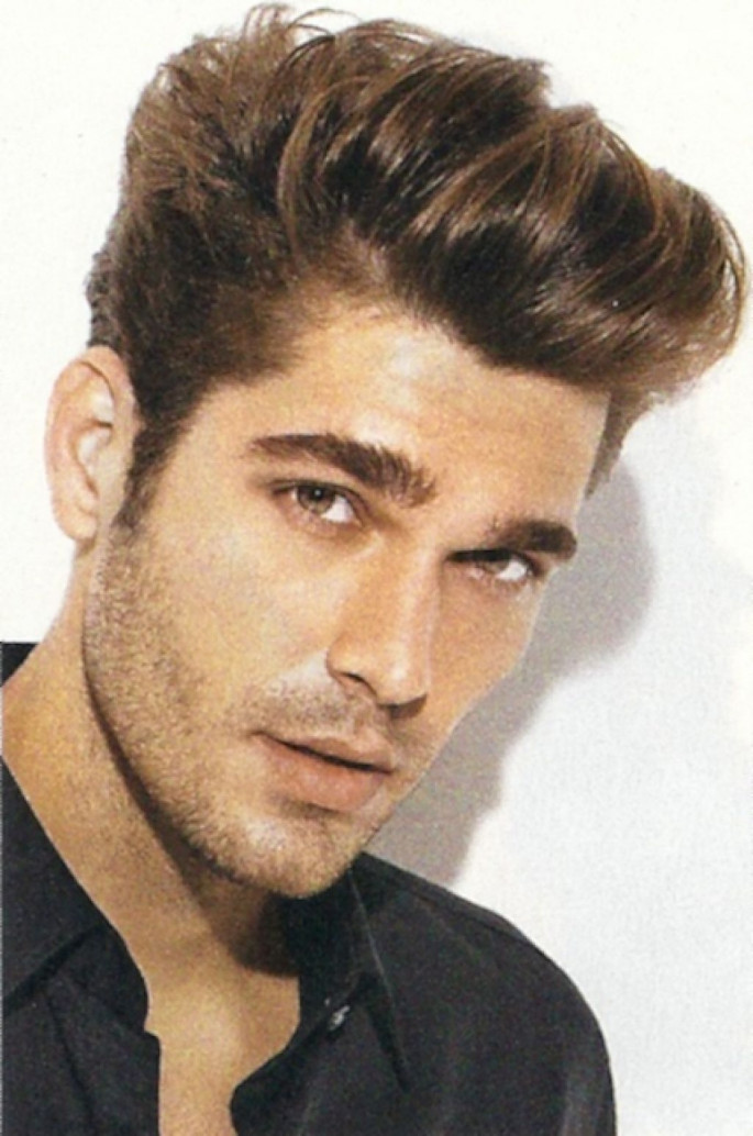 Long on Top, Short Sides and Back Hair Fade Medium Length Men's Hairstyles