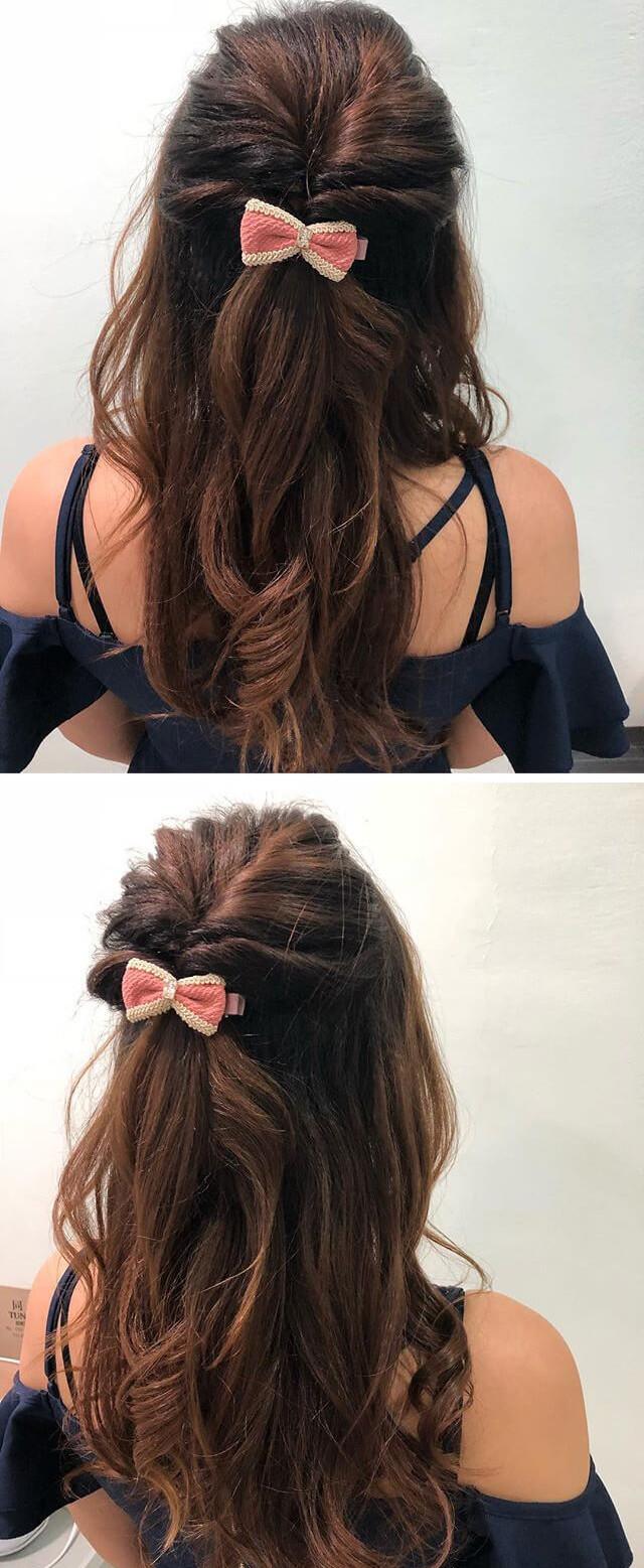 Easy Everyday ponytail Hairstyles for Medium Hair