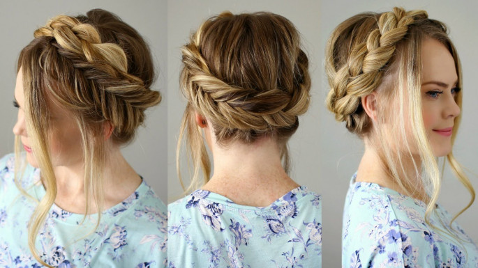 Messy Crown Braid