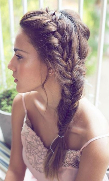 Messy Fishtail Braids