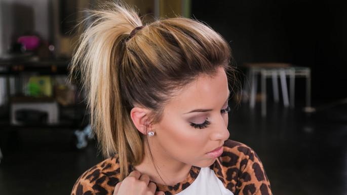 Puffy Half PonyHairstyles For Medium hair