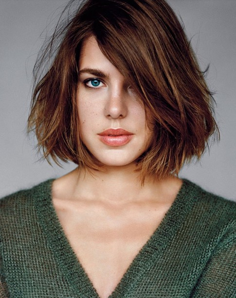 Messy Straightened Look Hairstyles For Medium hair